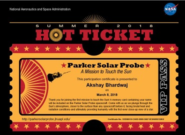 Send your name to the sun with NASA's solar probe - KNine Vox