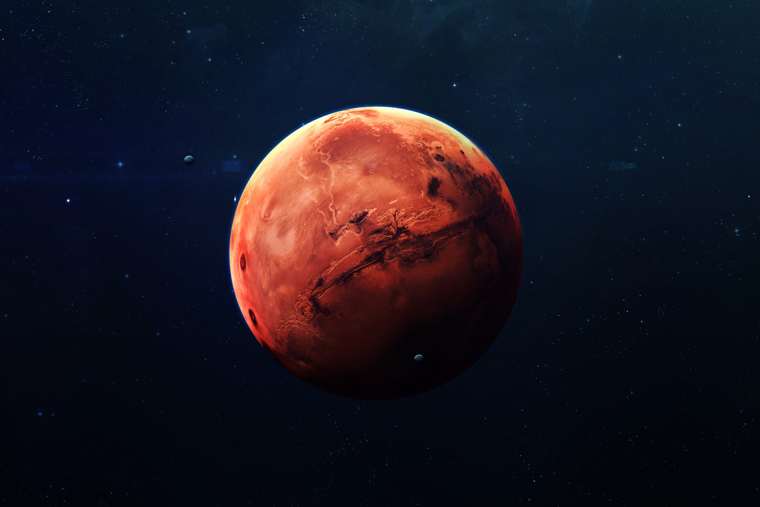 Most of the water on Mars might be present hidden under the surface